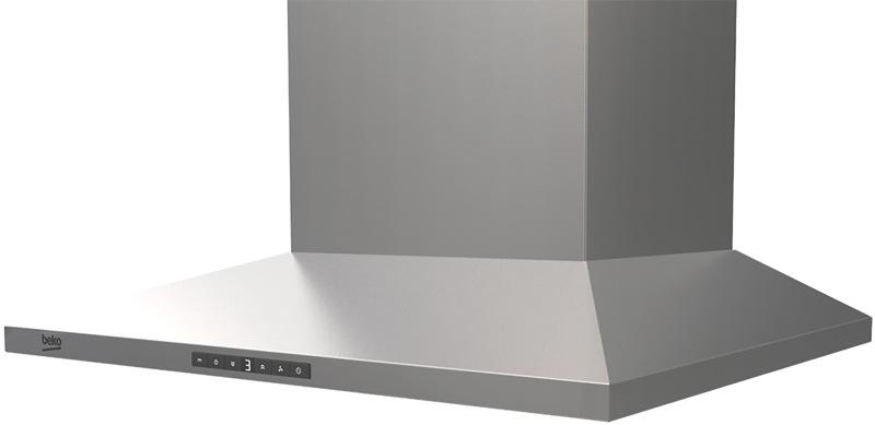 Beko 60cm Canopy Rangehood - Stainless Steel BRH60CX