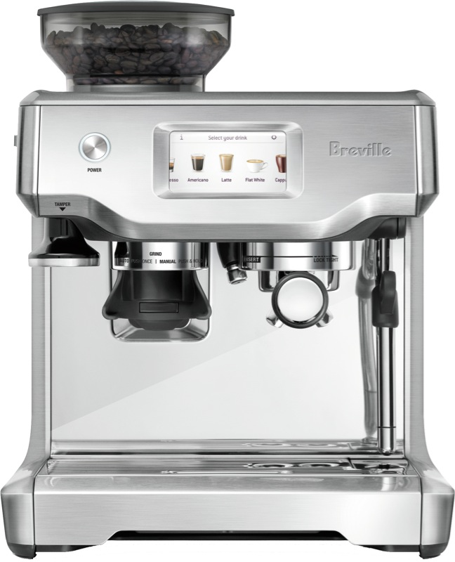 Breville The Barista Touch Fully Automatic Coffee Machine - Stainless Steel BES880BSS