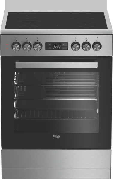 Beko 60cm Freestanding Electric Cooker - Stainless Steel BFC60VMX1